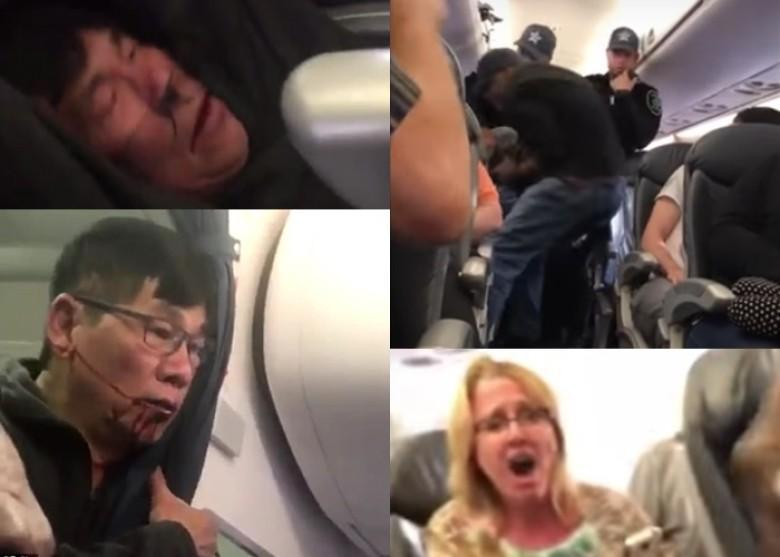 美联航超额订票暴力赶客现场图曝光 被强拖走的亚裔医生引关注