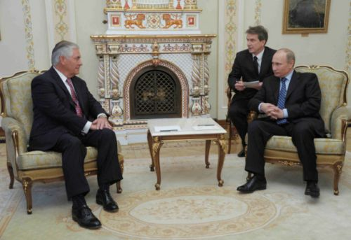 俄总统普京会见美国务卿蒂勒森 普京会面蒂勒森想达成什么共识