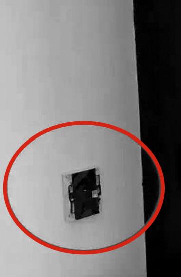 偷拍装置所在位置(红圈处)