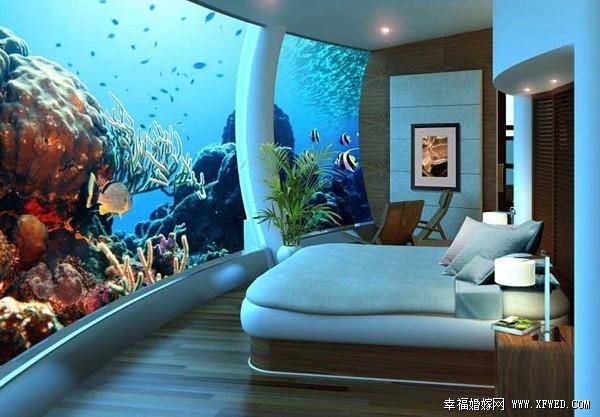 全球水下酒店 蜜月与鱼儿在一起