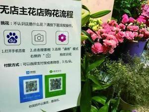 """大学生开京城首家""""无人""""花店 卖的不是花是信任"""