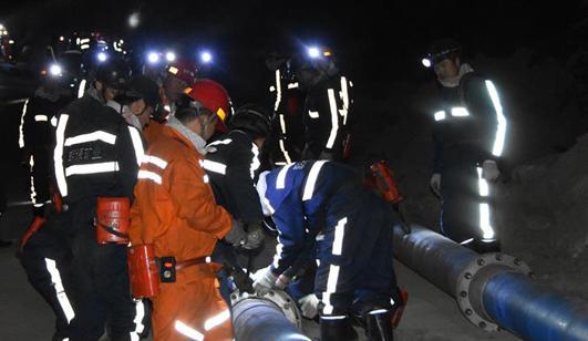 陕西神木煤矿透水事故6人被困 井下通风已恢复