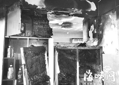 福州一对新人:新婚夜家中起火 疑因美的冰箱自燃
