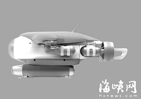 福州滨海新城来了水下机器人 外形类似鱼雷