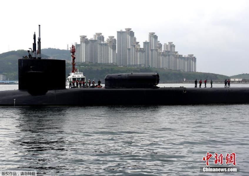朝鲜半岛局势恶化 美核潜艇进入釜山港 可载150枚战斧导弹