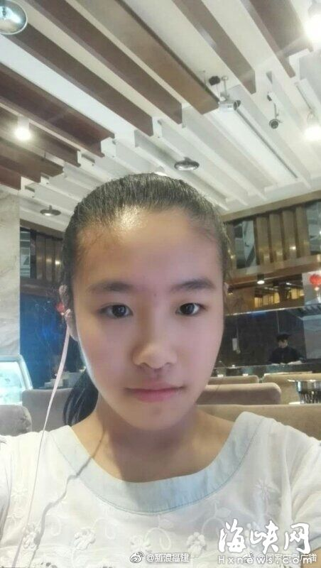福州13岁女孩上学路上走失 至今3天未回家