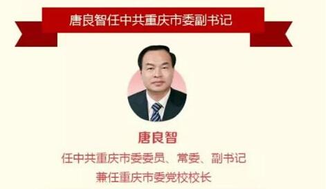 4月人事变动:唐良智任中共重庆市委副书记