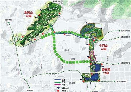福州牛岗山公园二期全面动建 新增3.2公里林荫游步道