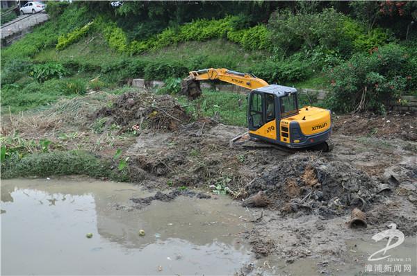 漳浦投入150 多万元清淤绥东溪 提升人居环境质量