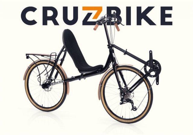 这个自行车厉害了,可以躺着骑!