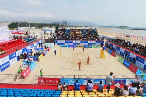 2017年全国沙滩排球巡回赛平潭站开赛