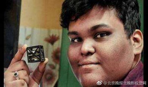 印度男孩设计全球最轻卫星:轻如鸡蛋 6月要上天