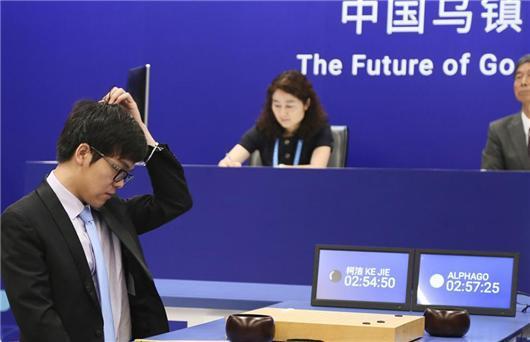 柯洁对决AlphaGo