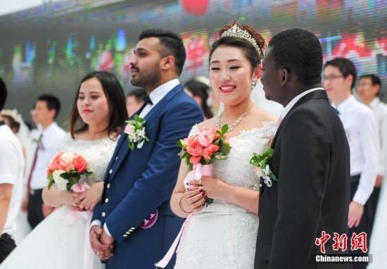 留学生参加集体婚礼:和妻子啥都合