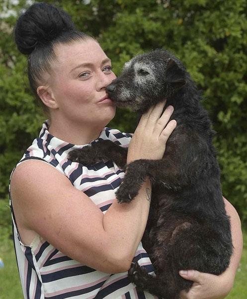 英国女子找回失踪6年狗狗 久别重逢感情如故