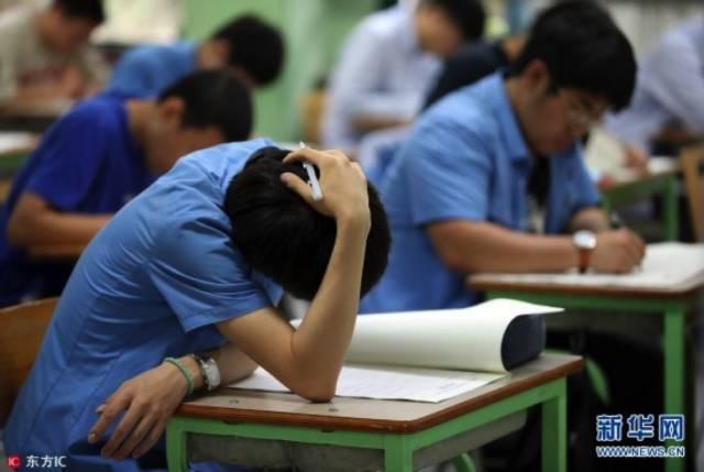 2017年6月1日,韩国首尔景福高中举行高考模拟考
