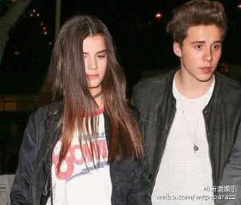 贝克汉姆爆料儿子布鲁克林已有女友 布鲁克林女友是谁照片曝光