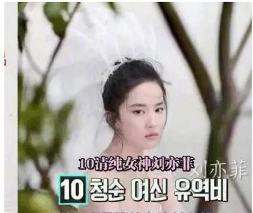 韩国综艺节目评选亚洲十大女神:赵丽颖杨幂允