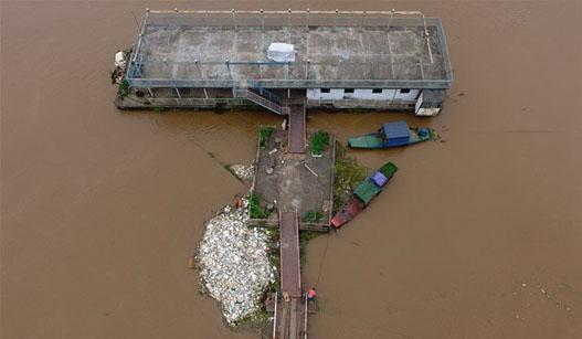 长沙湘江突破36米警戒水位