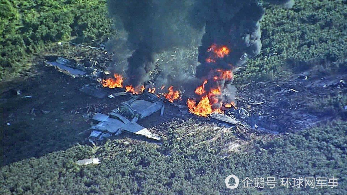 美军一架KC130密西西比州坠毁现场图曝光 已发现8具尸体