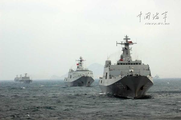 美媒:中国第5艘071型坞登舰下水 071型船坞登陆舰第六艘开建了吗