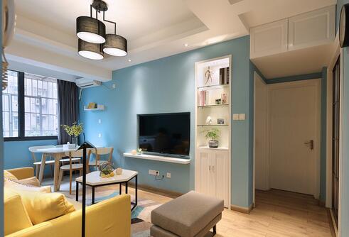 47平超小户型巧设计 时尚不贵全新旧房改造设计