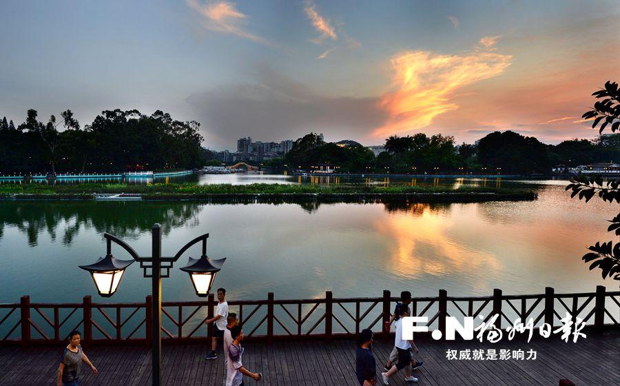 """福州西湖公园修复风貌 再现""""古典西湖"""""""