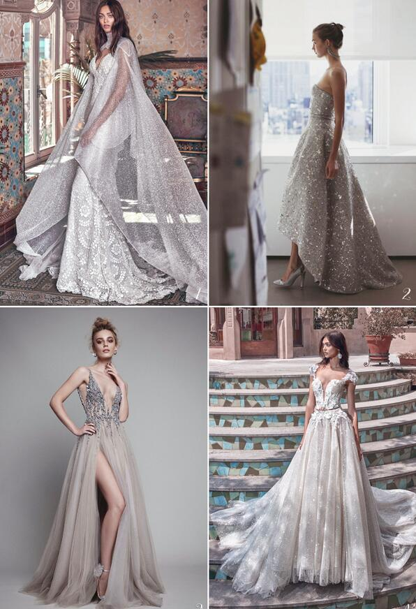 仙女色系神秘進階 不可錯過的六種婚紗色彩潮流