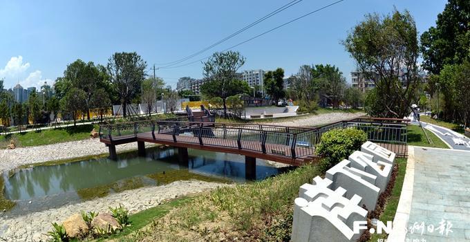 福州推进海绵城市建设 三江口鹤林片区建多个海绵项目