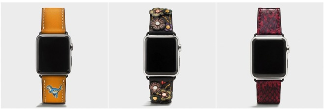 Coach推出6款全新Apple Watch表带 售价150美元起