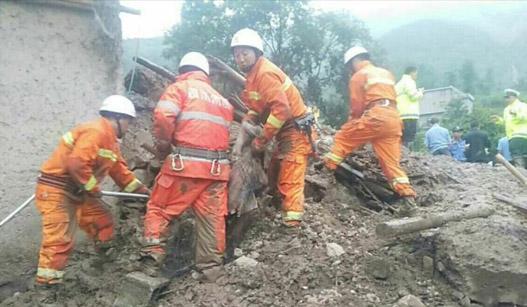四川凉山州普格县发生泥石流 救援紧张进行