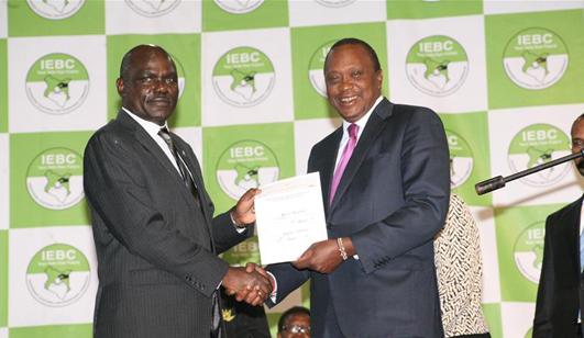 肯尼亚现任总统肯雅塔赢得连任