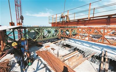 """探访金井湾大桥及连接线工程挂篮施工的""""玩法"""""""