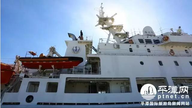 国内最大最先进海上巡逻船到平潭进行巡航等作业