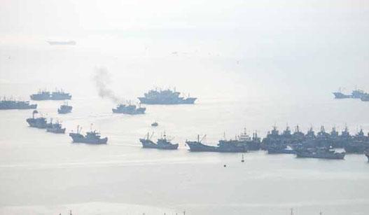 石狮祥芝560艘渔船开渔出海