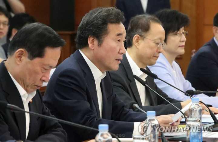 韩总理李洛渊就