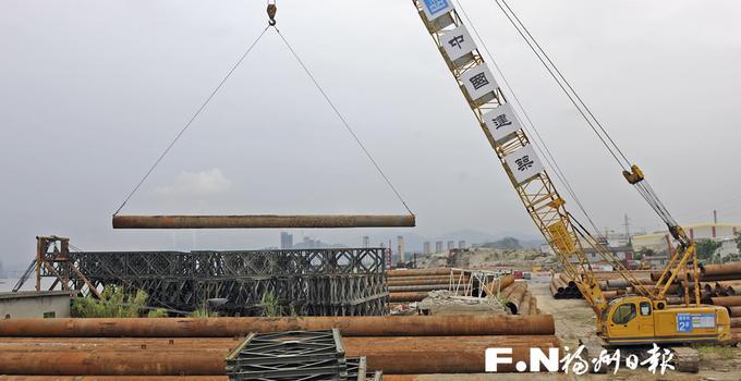 道庆洲大桥打下第一根桥梁灌注桩 拟2020年通车