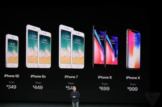 iPhone X等售价公布 前几代iPhone降价表一览