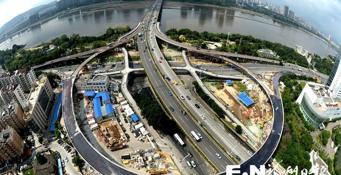 福州尤溪洲北桥头互通立交下月初通车 新建3条匝道主体完工