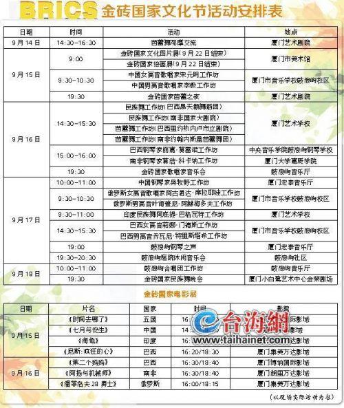 金砖国家文化节15日拉开序幕 免费向市民开放