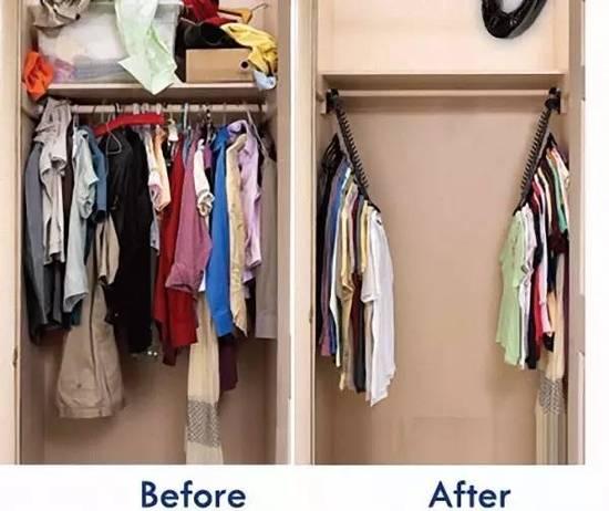 不花钱也能让衣柜大出一倍 持家女人必备技能!