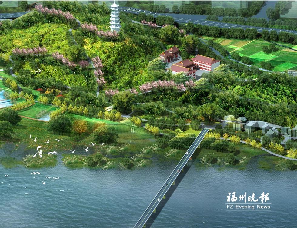 连江含光塔生态公园本月进场动工 明年初有望开园