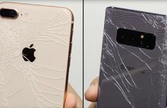 iPhone 8与Note8抗摔测试:都很惨 还是带手机套