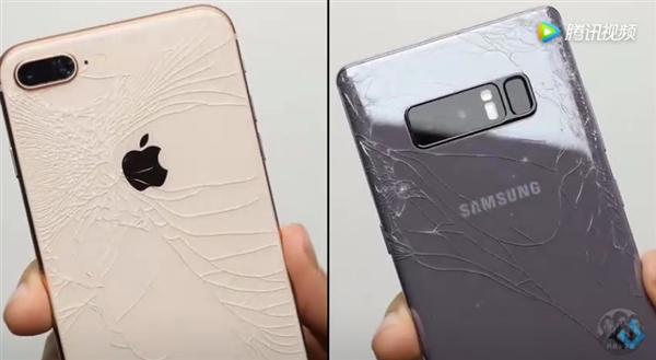 iPhone 8、三星Note 8哪个更耐摔?这测试看的心在滴血