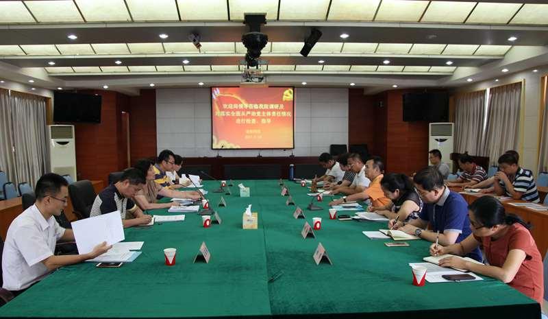 周惠珍副局长、郑子龙纪检组长一行到省安科院开展落实全面从严治党主体责任检查和纪检工作调研