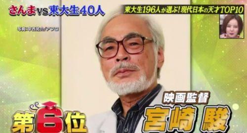 东京大学学生眼中日本天才TOP10榜单 新海诚宫崎骏上榜