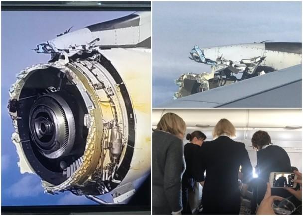 法航一架载520名乘客的A380引擎空中解体 紧急降落加拿大机场