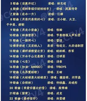 2017年央视中秋晚会节目单官方首发 TFBOYS、成龙献唱