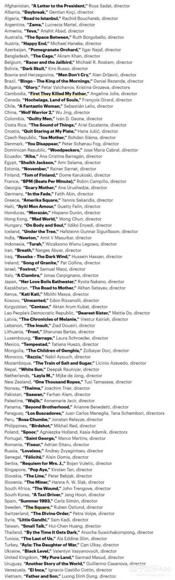 中国内地选送《战狼2》参与奥斯卡最佳外语片角逐!