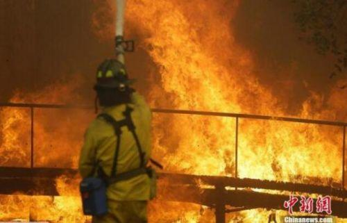 """美国加州10月山火致15人亡 景象如""""世界末日"""""""